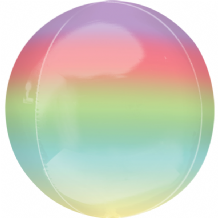 "Ombre Orbz Balloon - Rainbow Ombre Orbz (15"") 1pc"